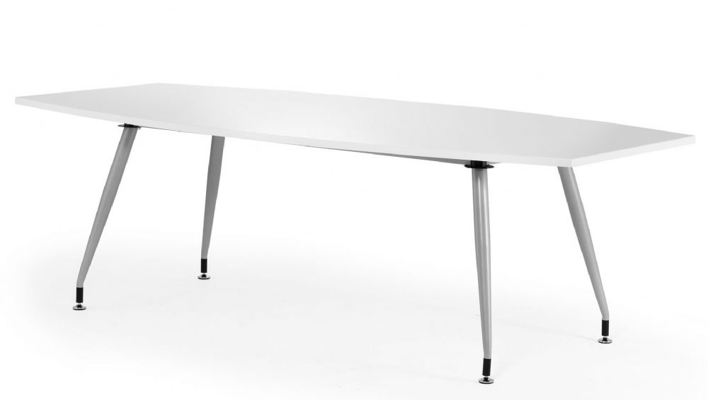 High Gloss Boardroom Table 2400mm. Available in Black and White